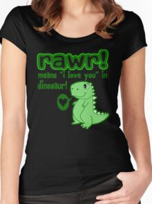 RAWR! Means I Love You In Dinosaur Women's Fitted Scoop T-Shirt