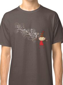 Magical Christmas Elf With White Swirls Classic T-Shirt