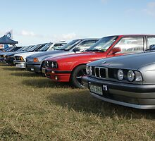 Row of Bimmers by JudeStarr
