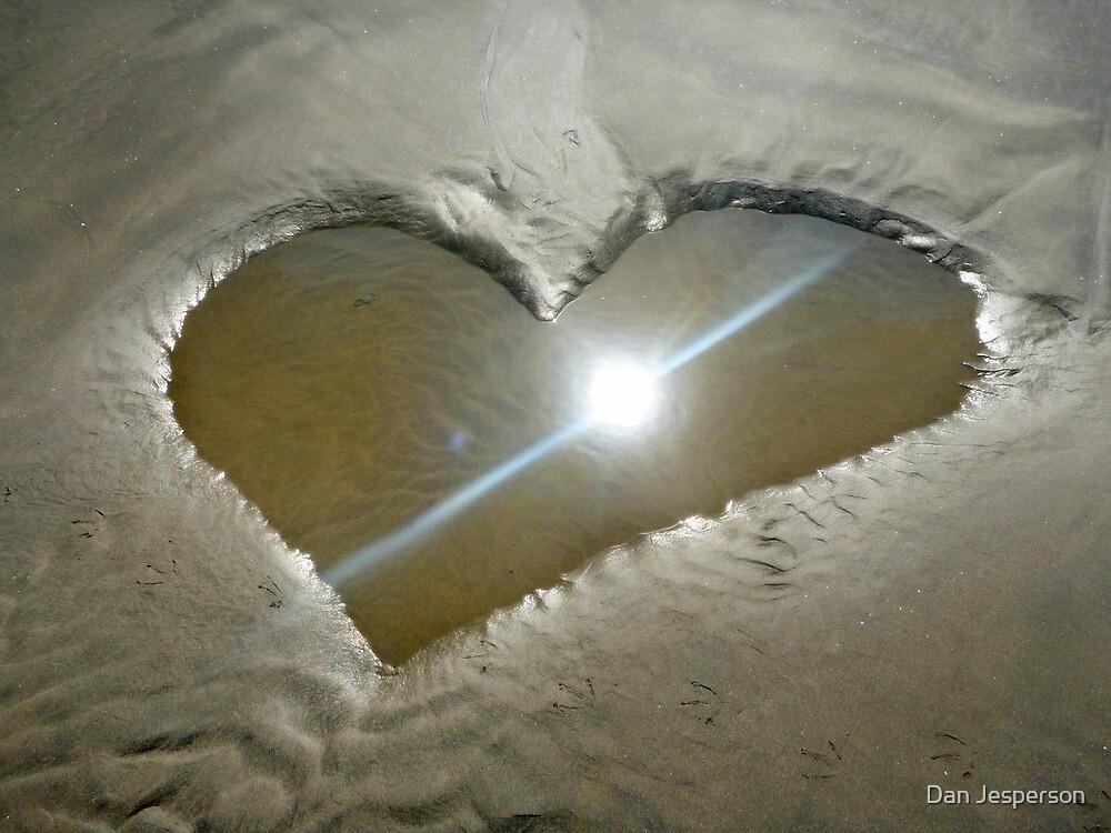 Heart Shaped Sand by Dan Jesperson