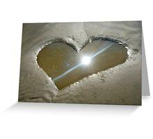 Heart Shaped Sand Greeting Card