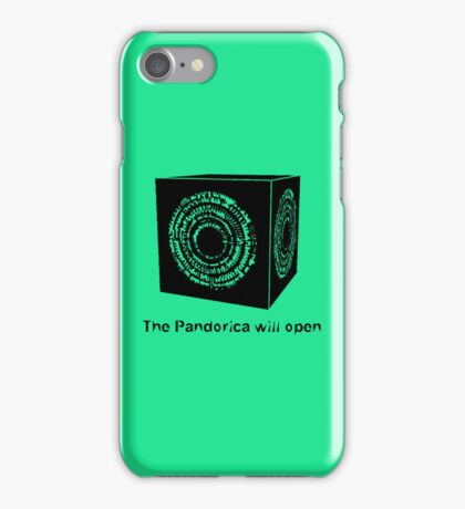 The Pandorica Will Open iPhone Case/Skin