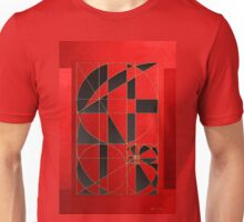 The Alchemy - Divine Proportions - Black on Red Unisex T-Shirt