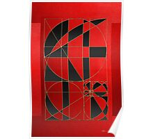 The Alchemy - Divine Proportions - Black on Red Poster
