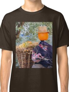 decorative pumpkins as a man on motorcycle Classic T-Shirt