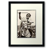White Knight, the winner of the tournament Framed Print