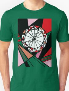 Cut - Red round diamond geometric art Unisex T-Shirt