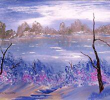 Lakeside at Twilight by Ginger Lovellette