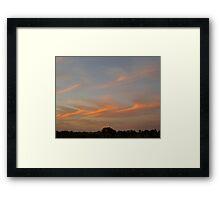 Brush Stroke Sunset 1 Framed Print