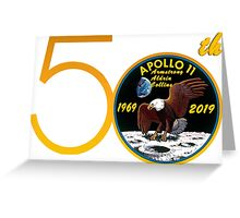 Apollo 11: 50th Anniversary Patch Greeting Card