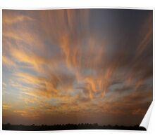 Brush Stroke Sunset 2 Poster