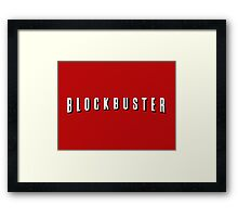 Blockbuster x Netflix parody – 90s, And Chill Framed Print