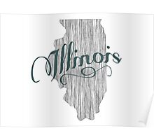 Illinois State Typography Poster
