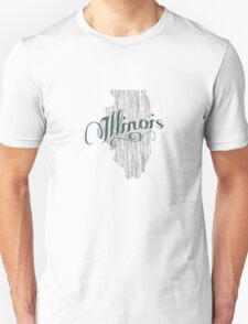 Illinois State Typography T-Shirt