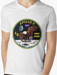 Apollo 11: 40th Anniversary Patch Mens V-Neck T-Shirt