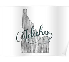 Idaho State Typography Poster