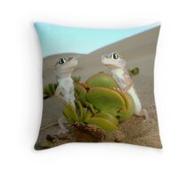 Spade-footed Geckoes - Namibia Throw Pillow