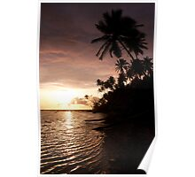 And Atoll Dawn - Pohnpei, Micronesia Poster