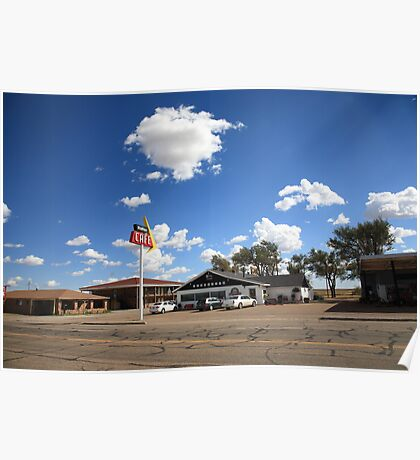 Route 66 - MidPoint Cafe, Adrian Texas Poster