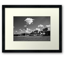 Route 66 - MidPoint Cafe, Adrian Texas Framed Print