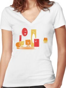 Nobody Likes Candy Corn Women's Fitted V-Neck T-Shirt