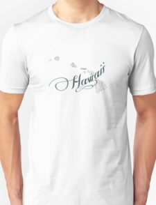 Hawaii State Typography T-Shirt