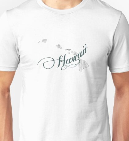 Hawaii State Typography Unisex T-Shirt