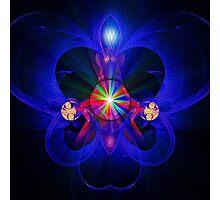 Blue Heart Photographic Print