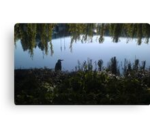 Heron on the Nike Campus Canvas Print