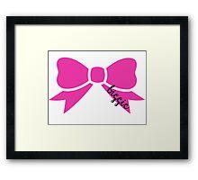 Biggie Bow Framed Print