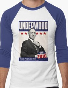 Underwood for President Men's Baseball ¾ T-Shirt