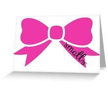 Smalls Bow Greeting Card
