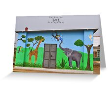 African Mural Greeting Card