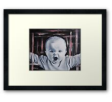 Cute Angry Baby Framed Print