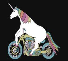 Unicorn Riding Motorcycle by ifonk
