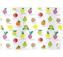 Fruits and. Poster
