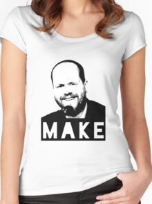 MAKE - Joss Whedon Women's Fitted Scoop T-Shirt