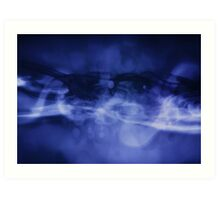 blue particles Art Print