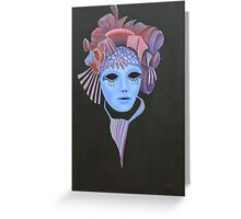 Venetian Mask with mauve headress. Greeting Card