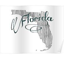 Florida State Typography Poster