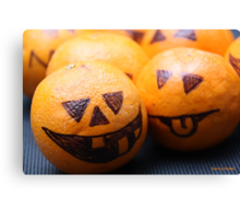 Halloween Baby Pumpkin Fruit Canvas Print