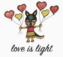 Love is Light: Cute German Shepherd Dog Watercolor Illustration Kids Tee