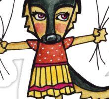 Love is Light: Cute German Shepherd Dog Watercolor Illustration Sticker