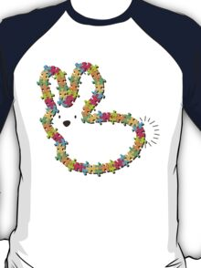 Jigsaw Colorful Bunny (brown nose) T-Shirt