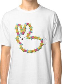 Colorful Jigsaw Whimsical Baby Bunny Classic T-Shirt