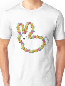 Colorful Jigsaw Whimsical Baby Bunny Unisex T-Shirt
