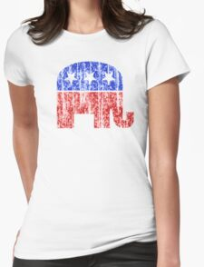 Republican Party Elephant Vintage Womens Fitted T-Shirt
