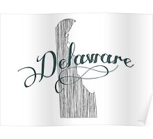 Delaware State Typography Poster