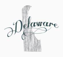 Delaware State Typography One Piece - Long Sleeve