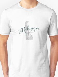 Delaware State Typography T-Shirt